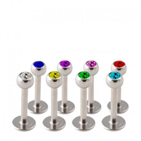Labret - Färgad Kula - 1.2mm / 7mm