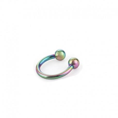 Hästsko piercing - Oljefärgad Titan - 1.2mm
