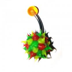 Barbell flerfärgad spret kula G23 Titan -1.6mm
