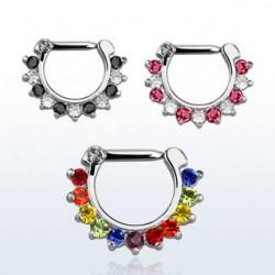 septum smycke regnbågsfärger