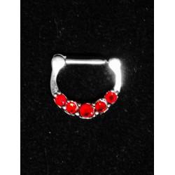 D format Septum smycke med stenar