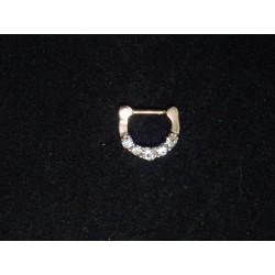 septum smycke i rose med stenar