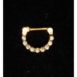 Septum smycke i guld med stenar