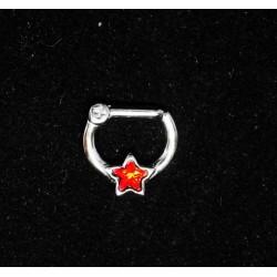 Septum smycke med stjärna och sten