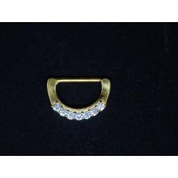 D-ring smycke med 7 stenar